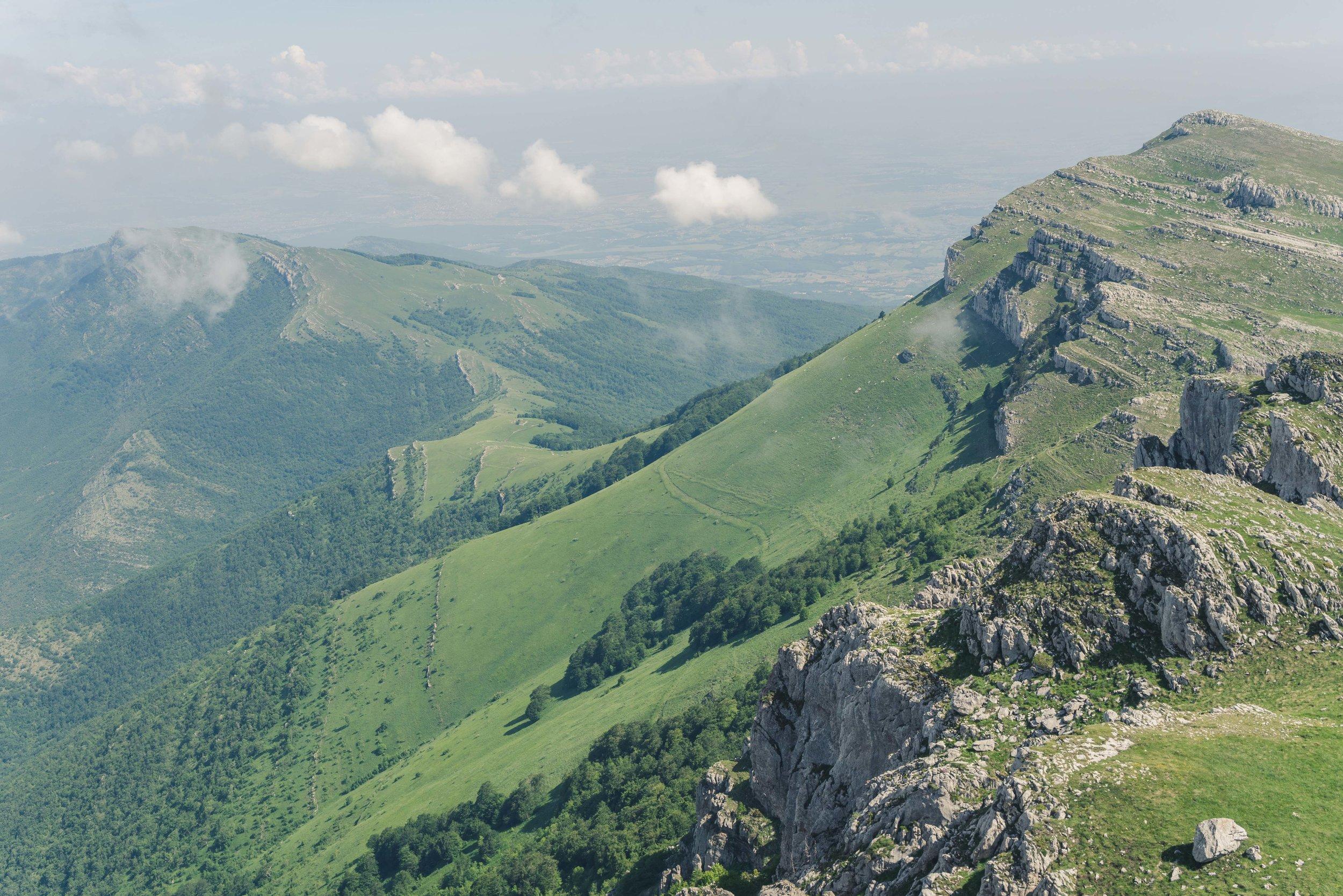 From the top of Maja e Pashtrikut