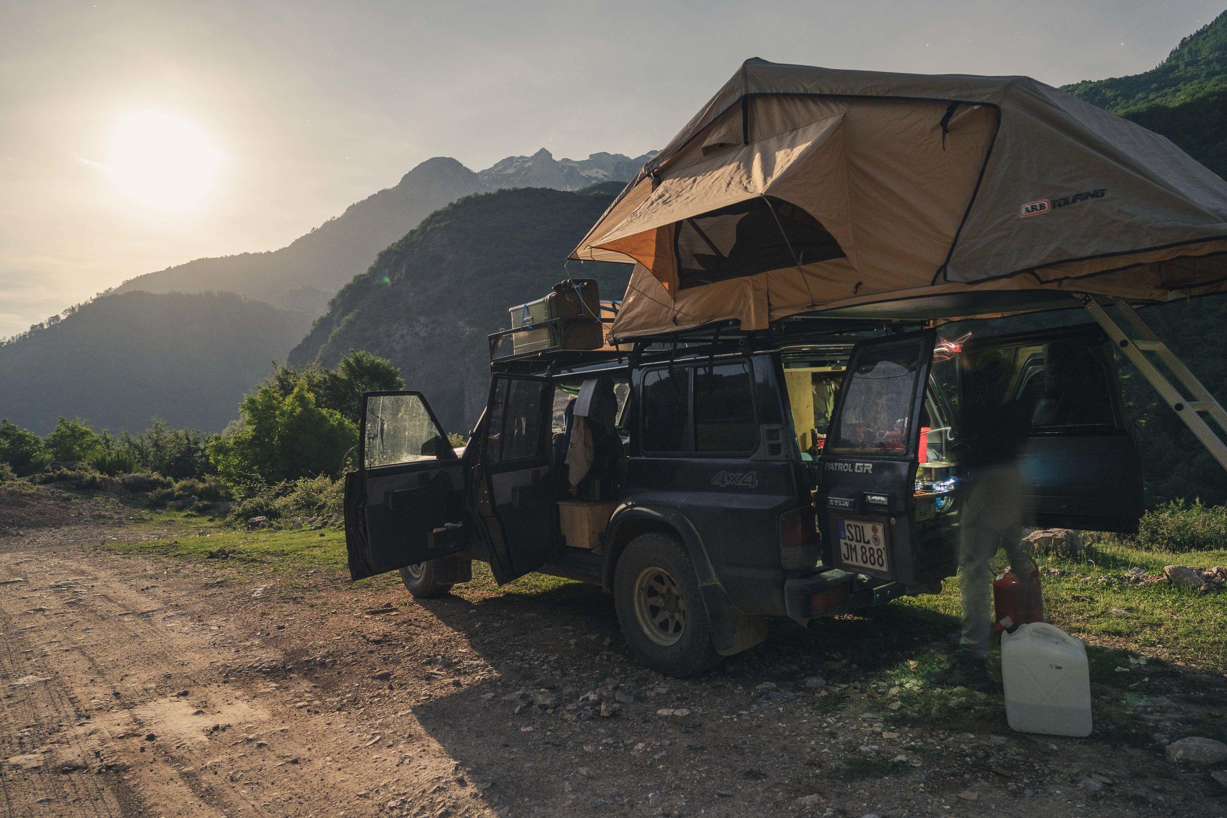 Camping in full moon light, Valbona Valley