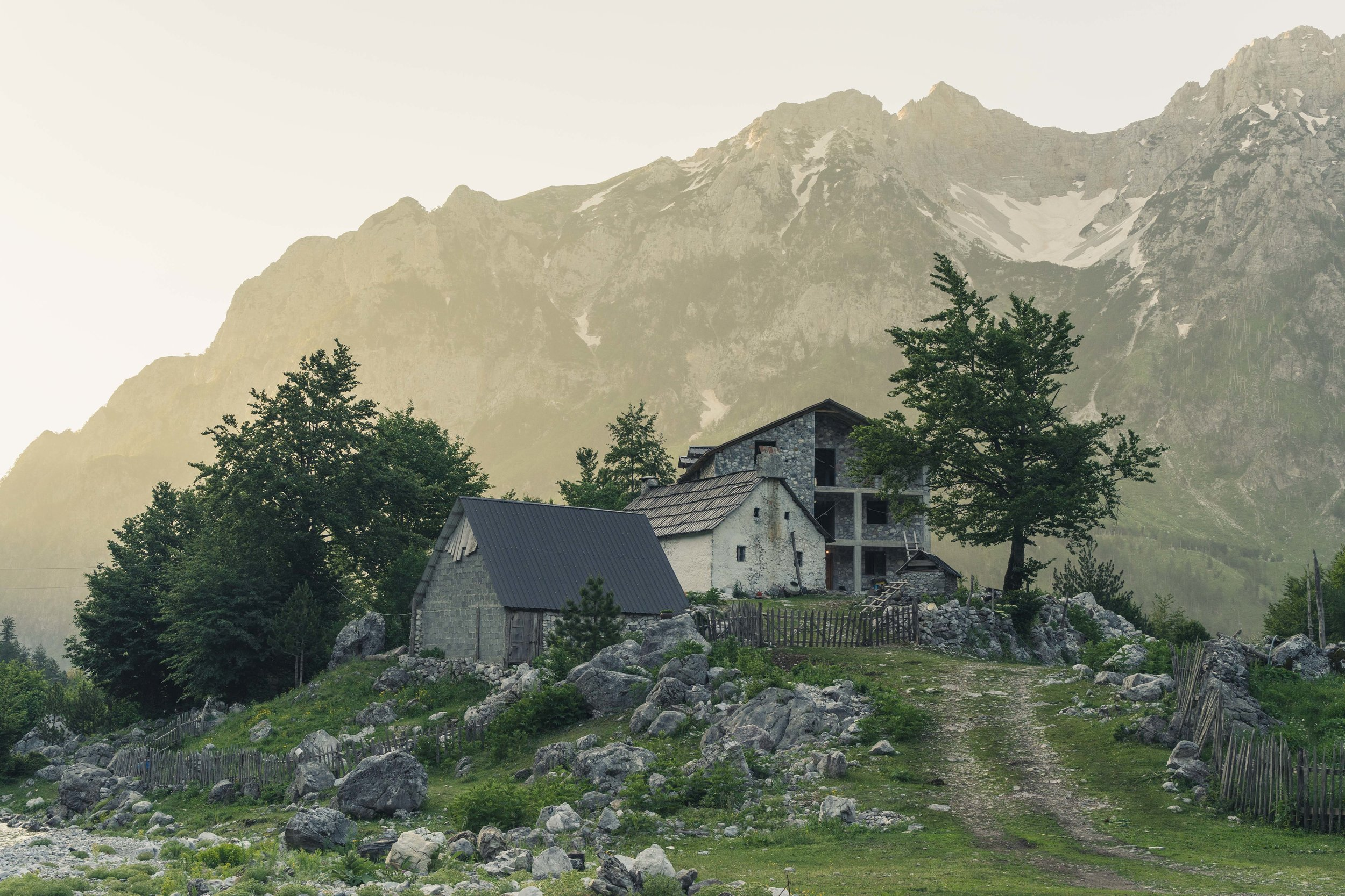 Morning trip up to the Montenegro boarder, Valbona Valley