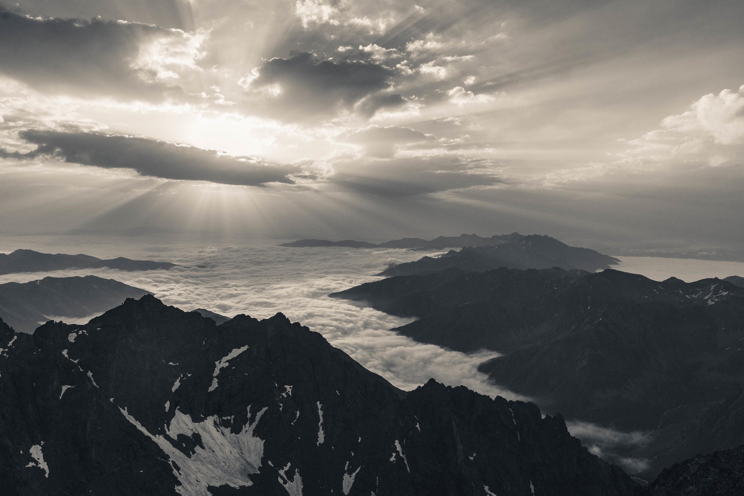 From the top of Kaçkar Dagi
