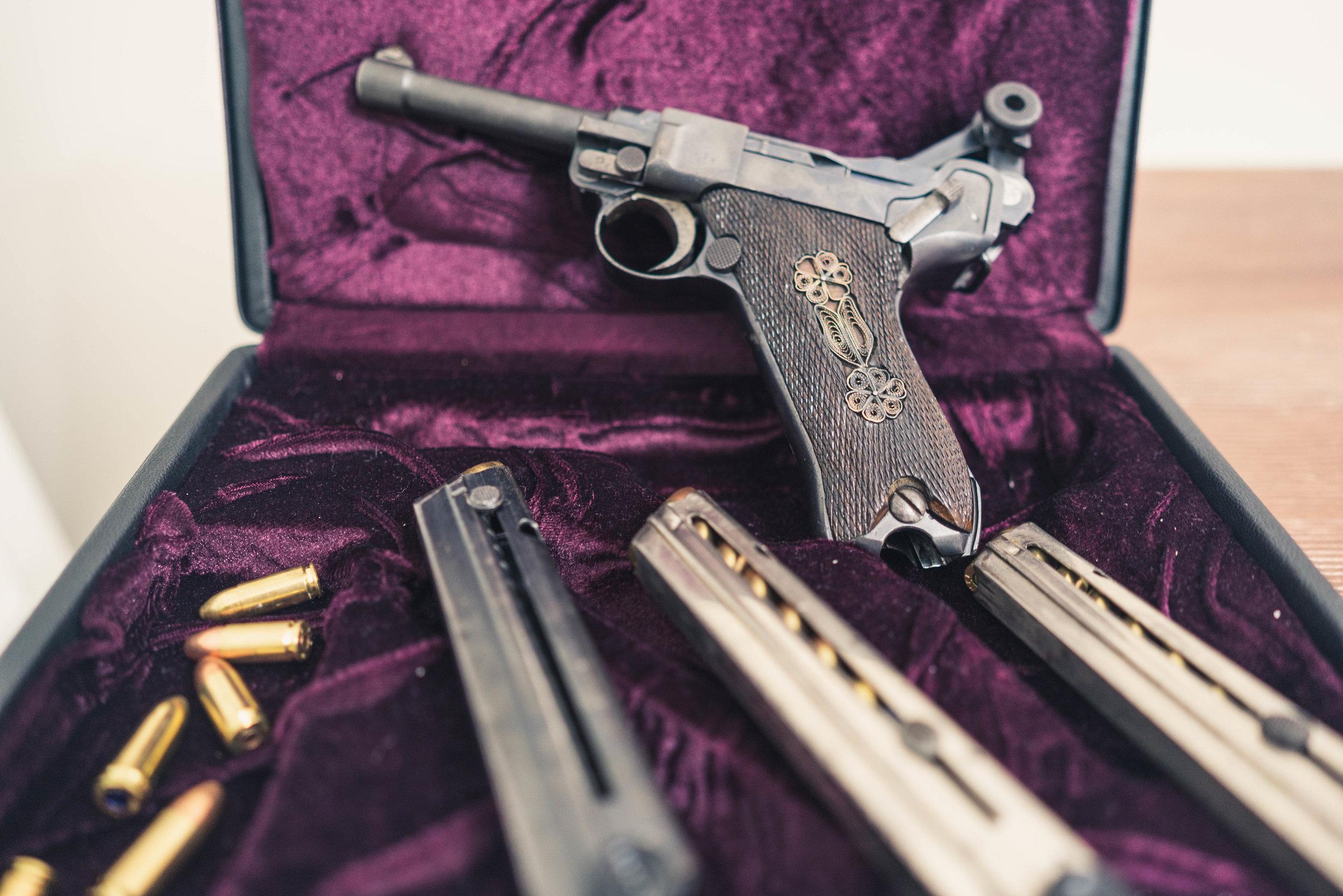 Got shown guns inherited by grandpa, first world war.