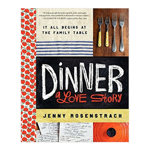 Dinner: A Love Story - One of the great things about cookbooks is that you can start anywhere and read as much or as little as you desire. In Dinner: A Love Story, you can browse a curated sub-set of recipes from the author's 13 years of recording dinners she and her husband have made for family and friends. Small, relatable memoir segments and useful, real life tips precede each group of recipes. The author's writing style is nonjudgmental, down to earth and helpful. Some of my favorite tips and recipes include but are not limited to: the recipe door painted inside one of their cabinets (p. 21), the chicken pot pie and sweet potatoes recipe (p. 33) and the vacation meal planning made easy list (p. 236).