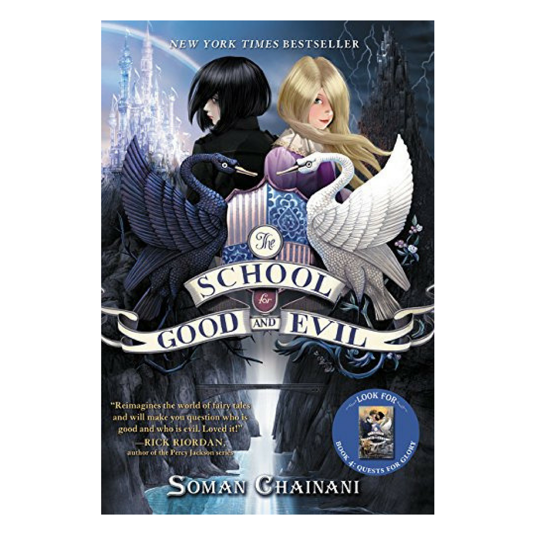 The School for Good and Evil - This title is on the top end of middle reader. In it we follow best friends Sophie and Agatha as they become students at their respective schools - the School for Good and the School for Evil. Agatha and Sophie's fortunes end up being reversed as they unwittingly end up at each other's schools. Each girl falters and then adjusts to training in fields that initially appear to be the opposite of their natural talents, with Sophie taking courses such as Uglification and Henchman training while Agatha struggles through Princess Etiquette and Animal Communication amongst flawless, beautiful peers. The book contains violence and Sophie and Agatha's friendship is a complicated one. Even so, following the two girls as they find out who and what is really good and who and what is really evil is a thrilling ride.