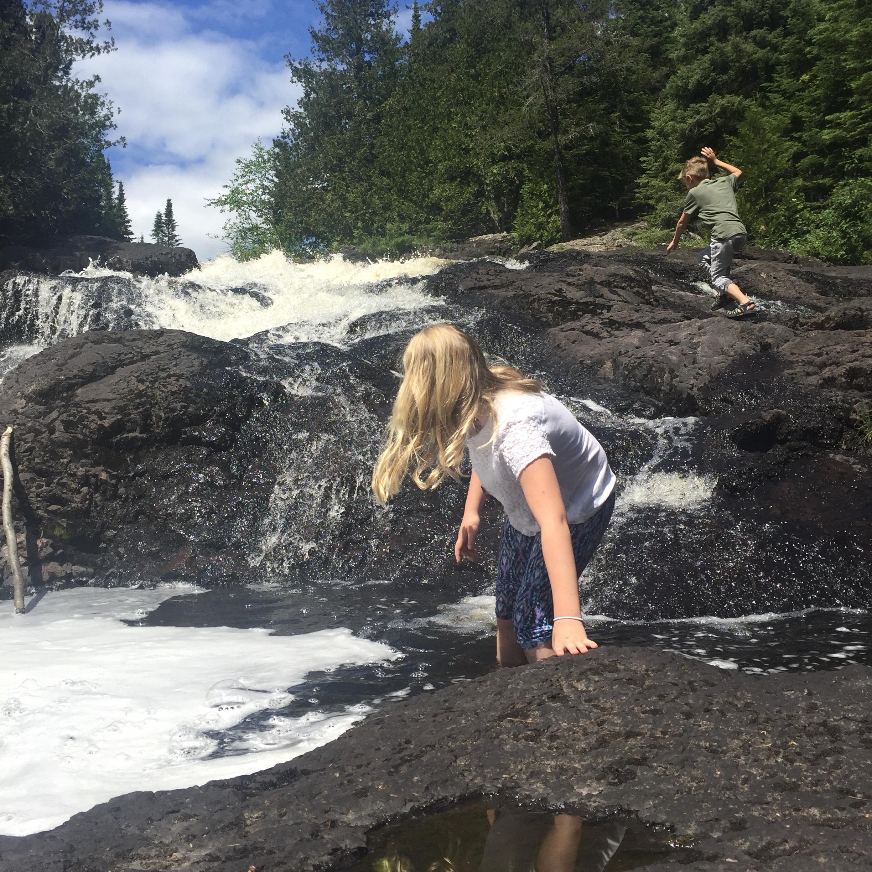 Exploring Thompson Falls, near the Eagle Mountain Trailhead