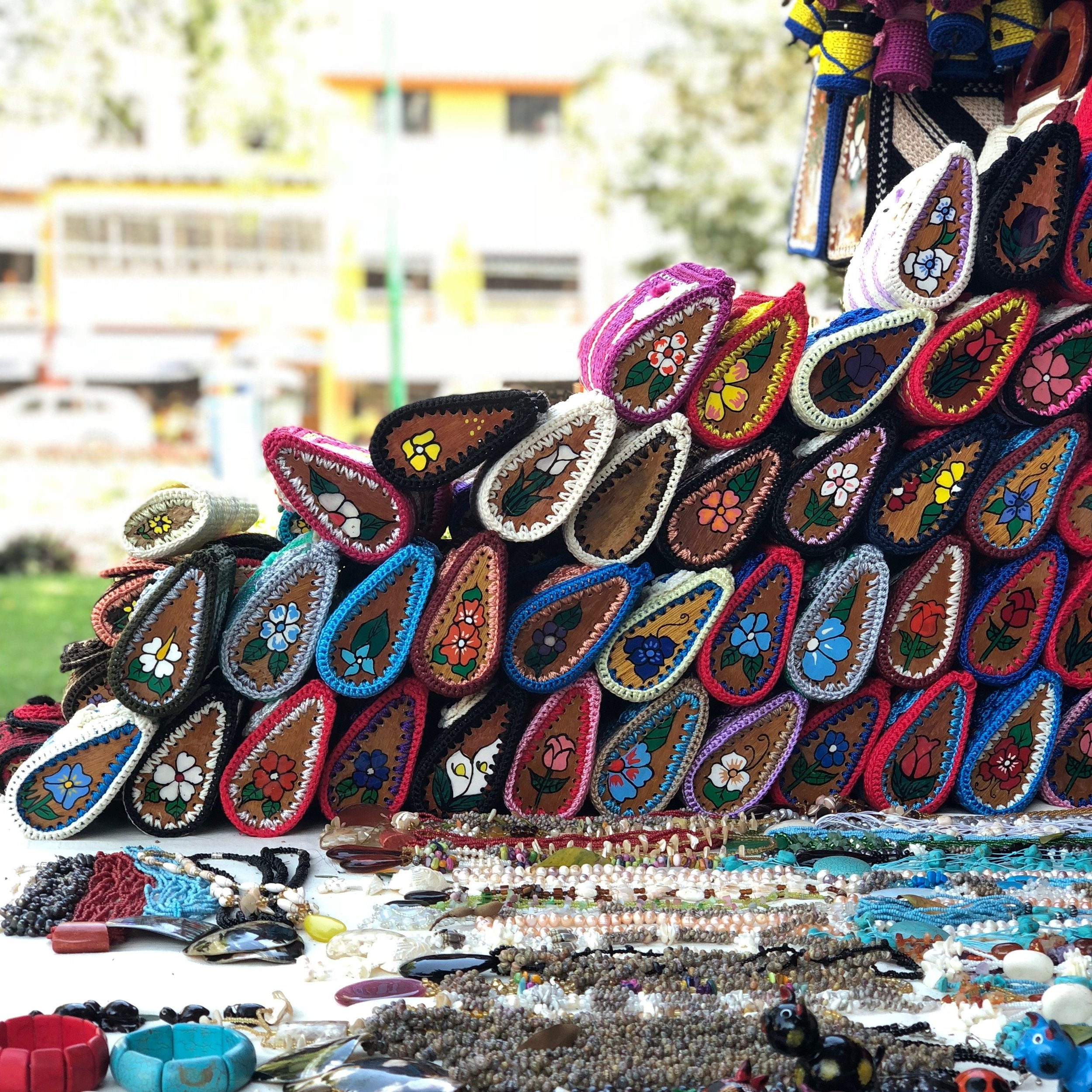 Local handicrafts in downtown La Crucecita
