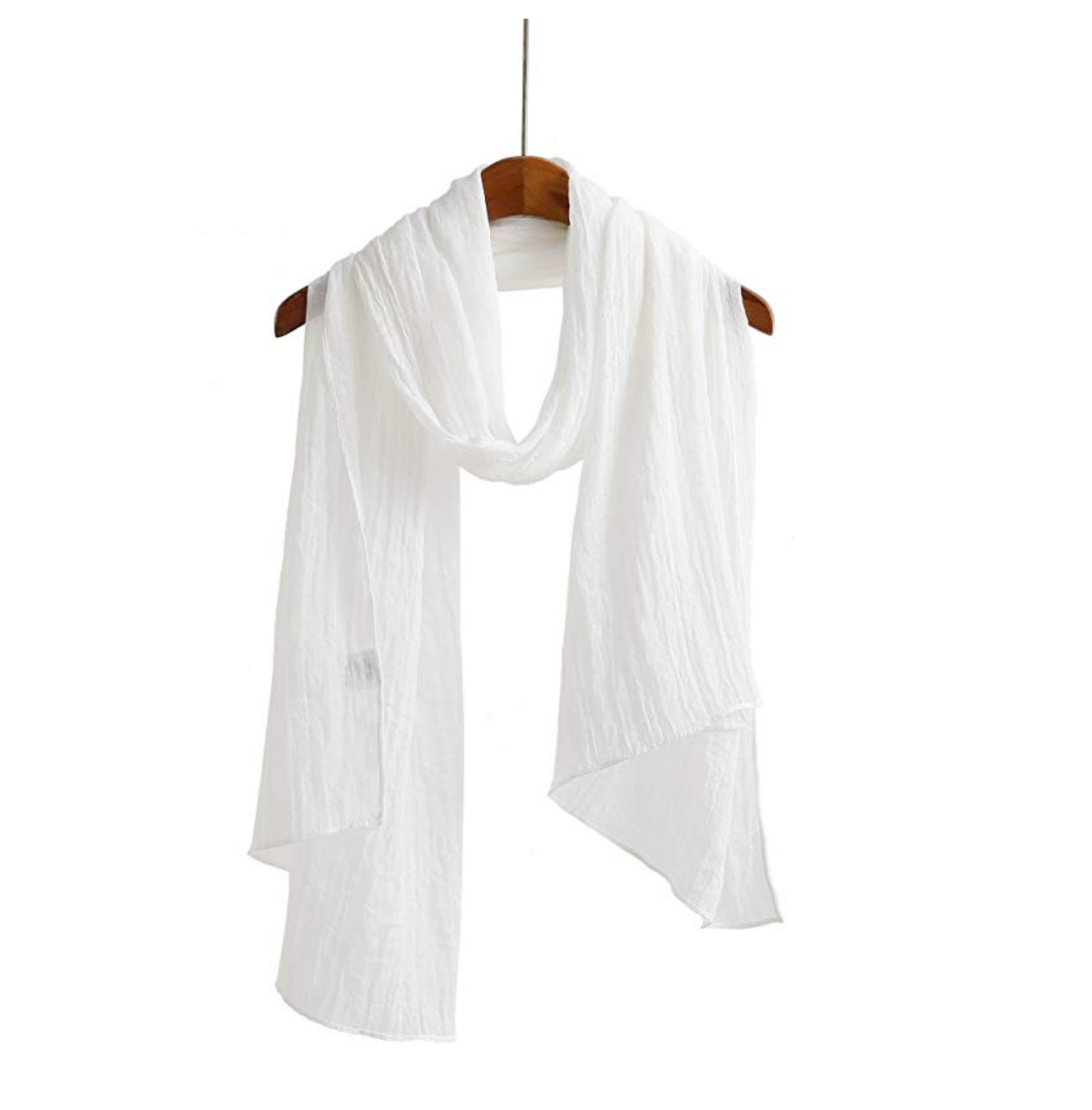 Jeelow White Scarf Shawl