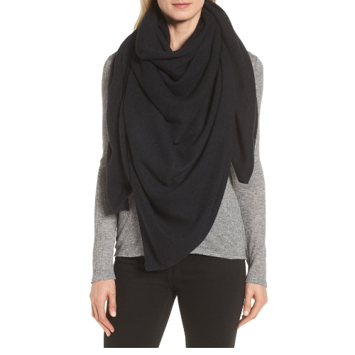 Cashmere wrap for on and off the plane.