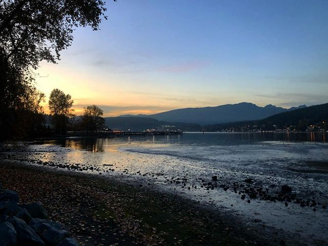 The sun sets at 3:30 but we're not upset about it 😍🌅 #inletlife #anchoredhere #portmoody
