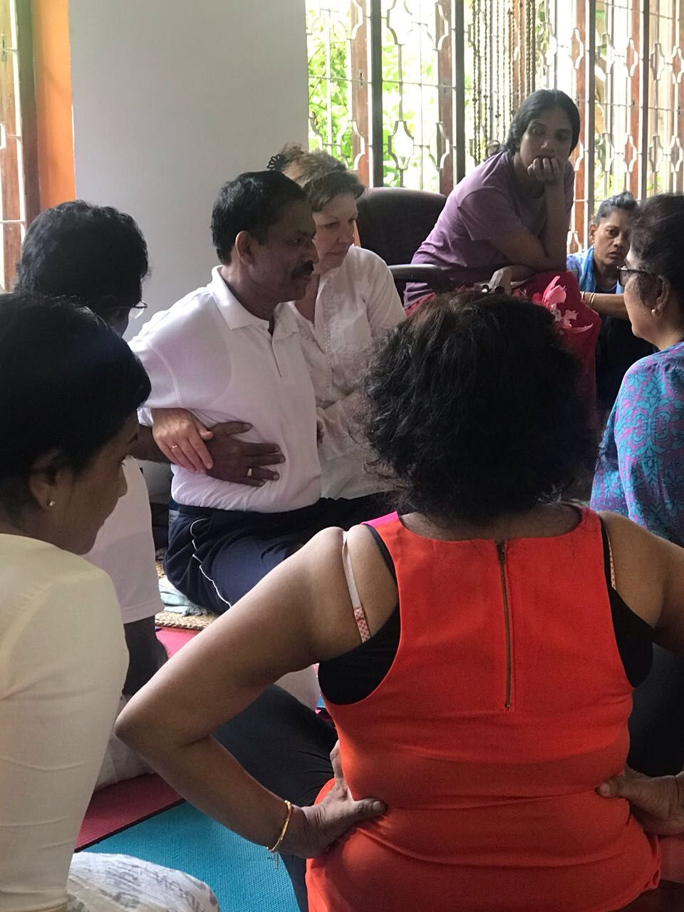 Teaching Deergha Swasaam (three-part breath)