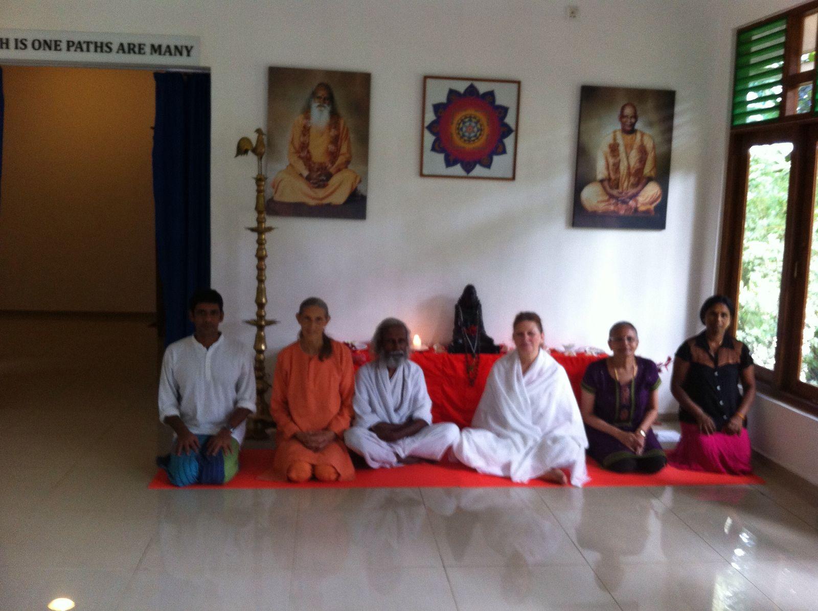 All Faiths Hall at Sachidananda Thapovanam, Kandy with Swami Divyananda Ma and Sri Kaliyuga