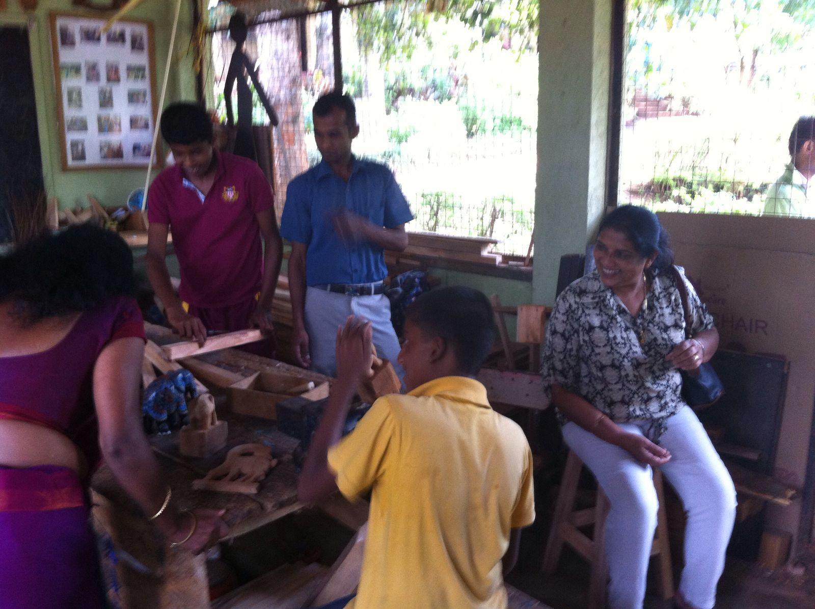 Carpentry workshop in children's home, Kandy