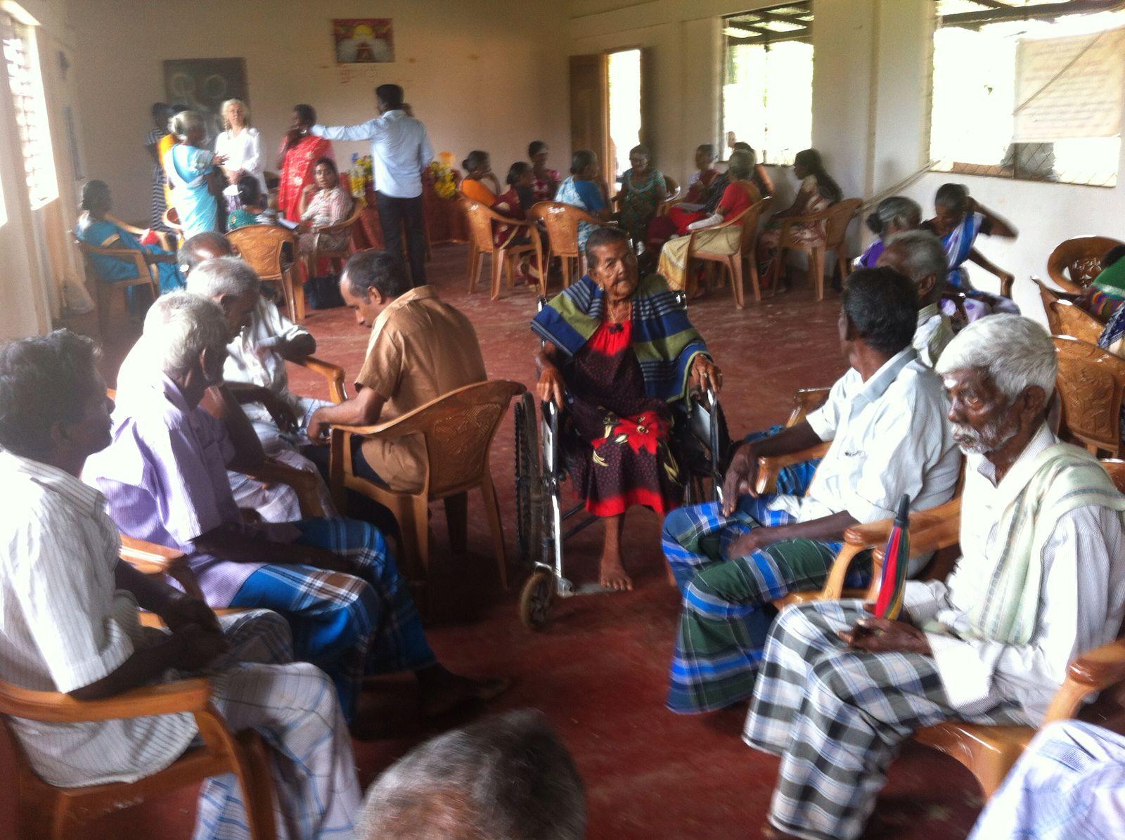 Elders Wisdom Club having breakfast in our village.