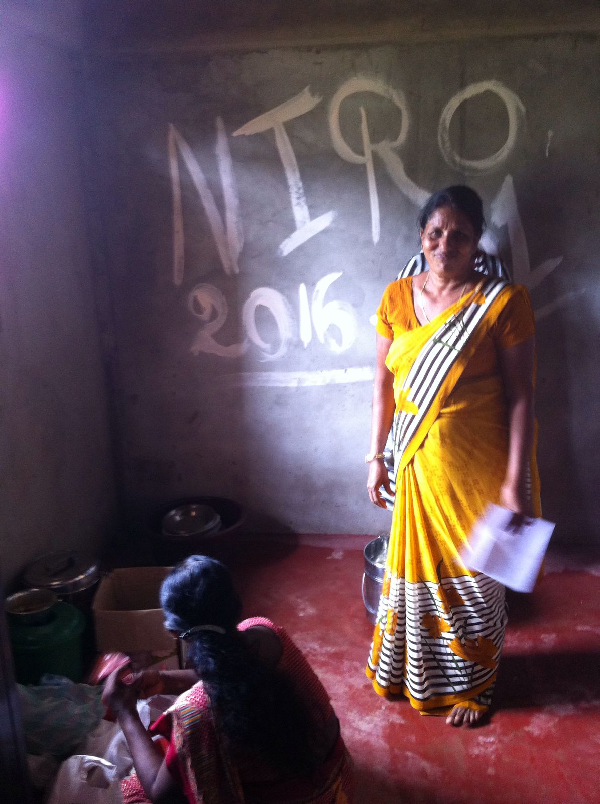 The amazing Mrs. Sivapaikiam who organises our programmes for the elders and special needs children in our village near Kilinochchi