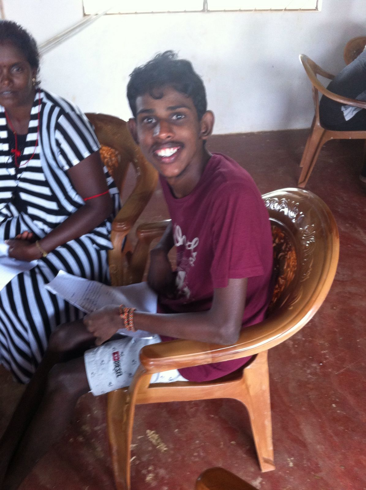 One of our special needs friends in our village of Puddumuripukkalam near Kilinochchi