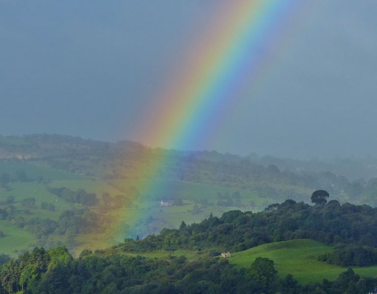 Rainbow over Derbyshire Dales - Photo credit: Paul Stevens
