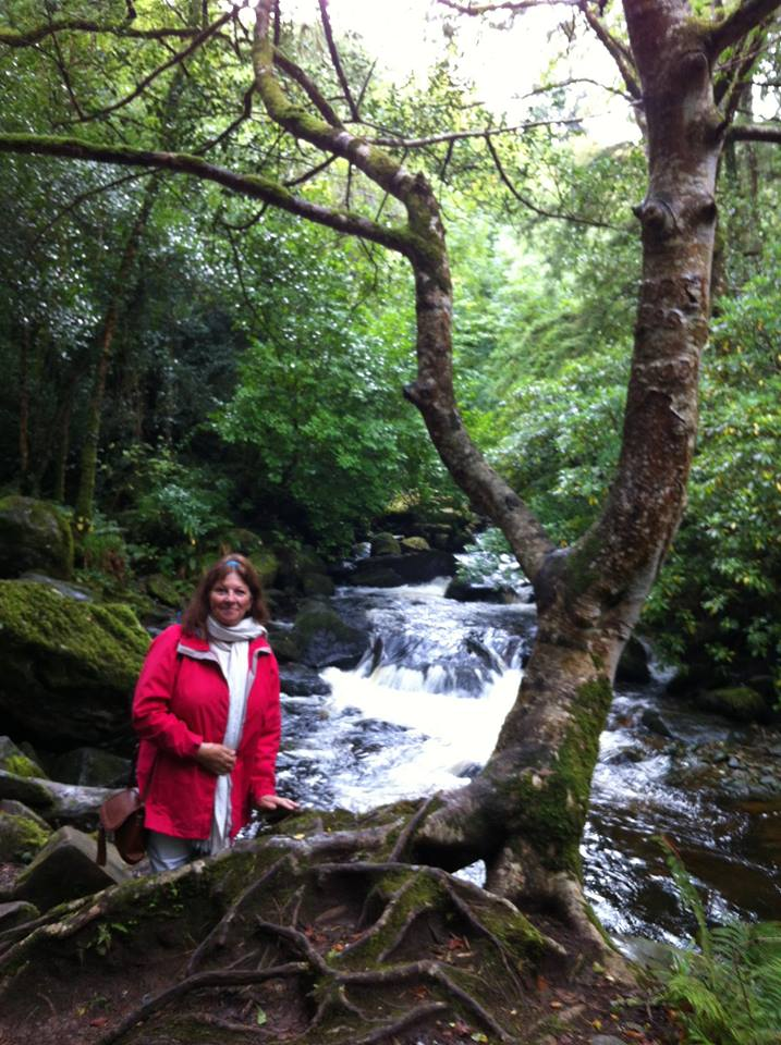 Padma Devi at Blessing of the Waters on the Heart Of Living Yoga Pilgrimage to Sacred Ireland, September 2017