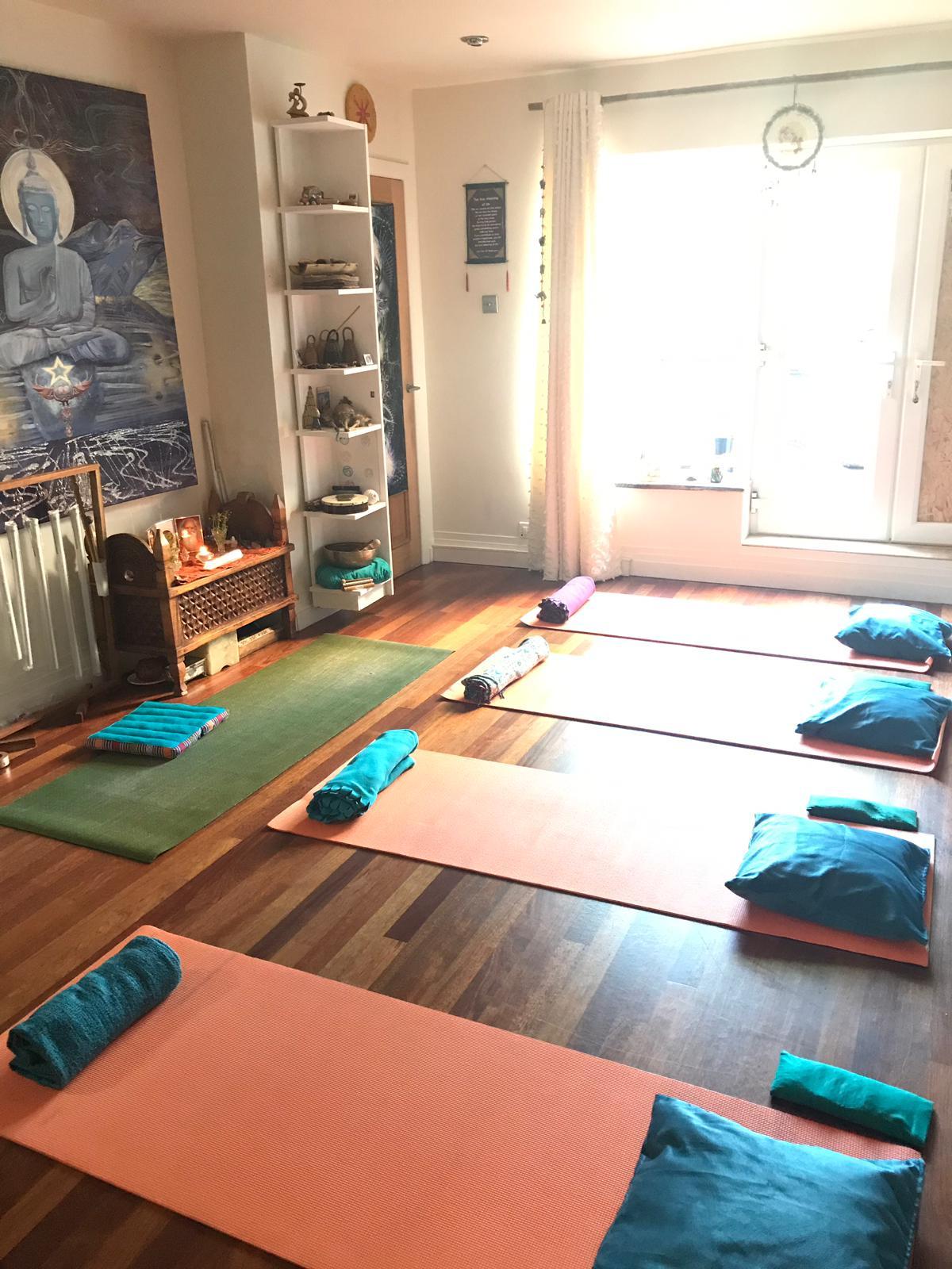 Andyara Tara's beautiful private yoga studio