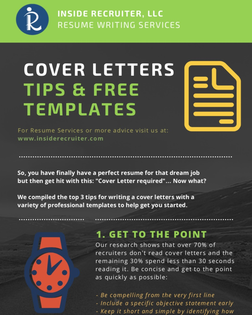 "Free Cover Letter Templates - So you finally have the perfect resume crafted for that dream job but then get hit with: ""Cover Letter (Optional)""… Now what?!Download this free guide that includes several cover letter templates and (3) key cover letter tips to help you continue with your job search."