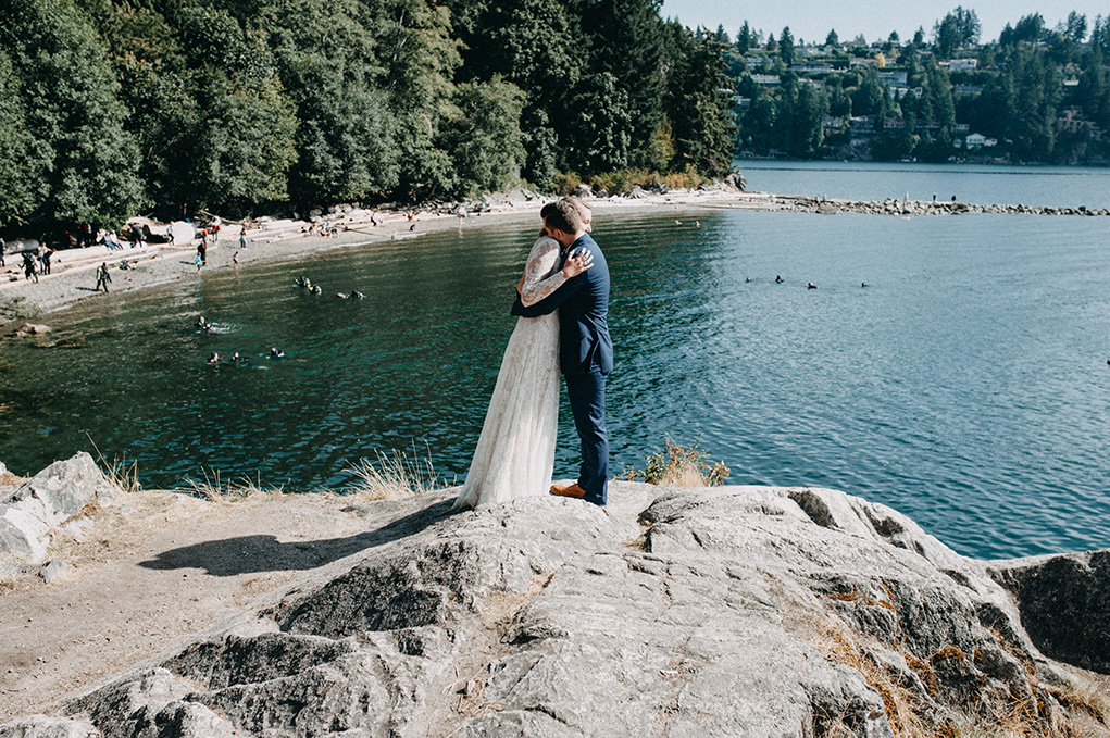 Vancouver wedding - First Look - Jayme Lang