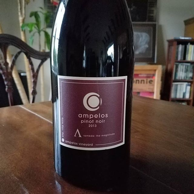 Thank you @ampeloscellars for your donation of 1.5 Liter 2013 Pinot Noir, lambda to benefit scholarship programs and @ahcwinery. This bottle and dozens of other wine lots will go on bid at 37th annual Vintners Festival on May 4th @ranchosisquoc🍷🍷🍷 Get your tix at sbvintnersweekend.com #santabarbarawinecountry #santamariavalley #santamariastyle #allanhancockcollege  #calove