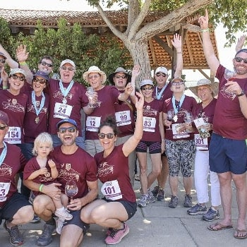 You too can express tour team spirit at the 5th Anniversary Vintners 5 Miler on July 20th at Sanford Winery. 🍷🏅🍷Get your tix at www.sbvintnersrun.com #trailrunning #santabarbarawinecountry #instarunners #explorelompoc
