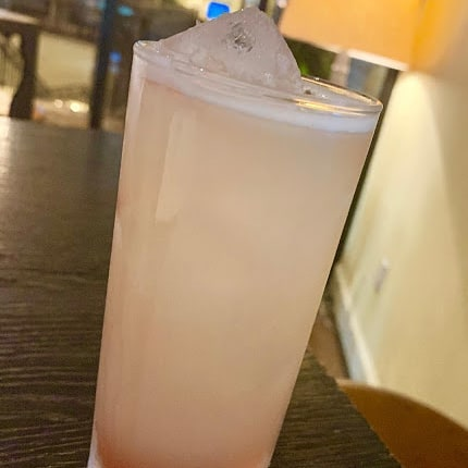 "Beat the heat in August with ""Storm Cellar,"" this month's 🍹Cocktail for a Cause🍹at @finchandfork. Made with #gin-&-#sauvignonblanc from @stormwines, ginger and a splash of raspberry liqueur, sales from this refreshing libation support our community fundraising programs...so drink up! #santabarbarawinecountry  #visitsantabarbara  #stormcellar #cocktailforacause"