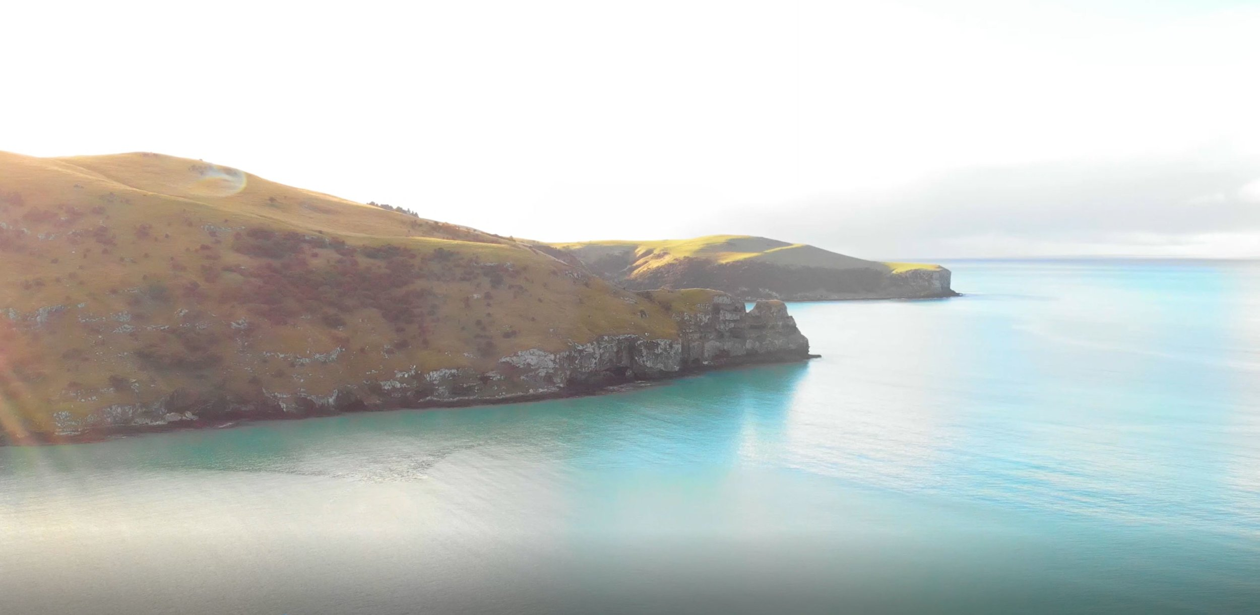 E.Three drone footage in the Banks Peninsula.