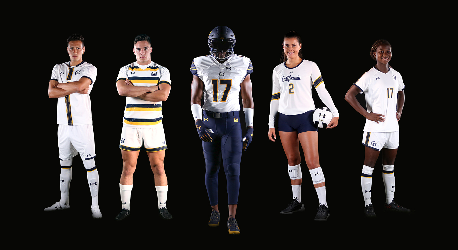 Pictured is a few of the other sports that I photographed as a part of the Cal/Under Armour uniform reveal.