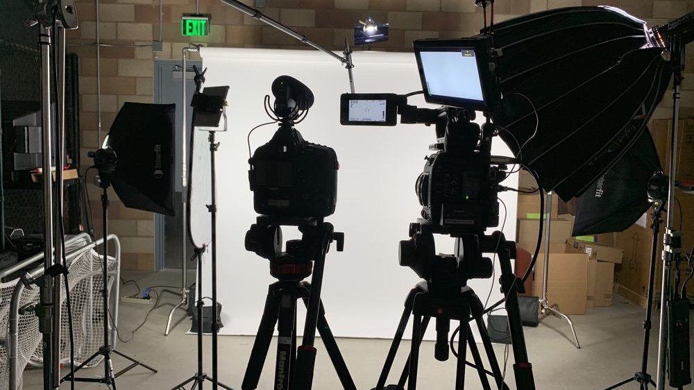 "While filming the ""Power of Yes"" campaign for Ionis Pharmaceuticals, we transformed a warehouse storage closet into a filming studio to capture employee testimonials."