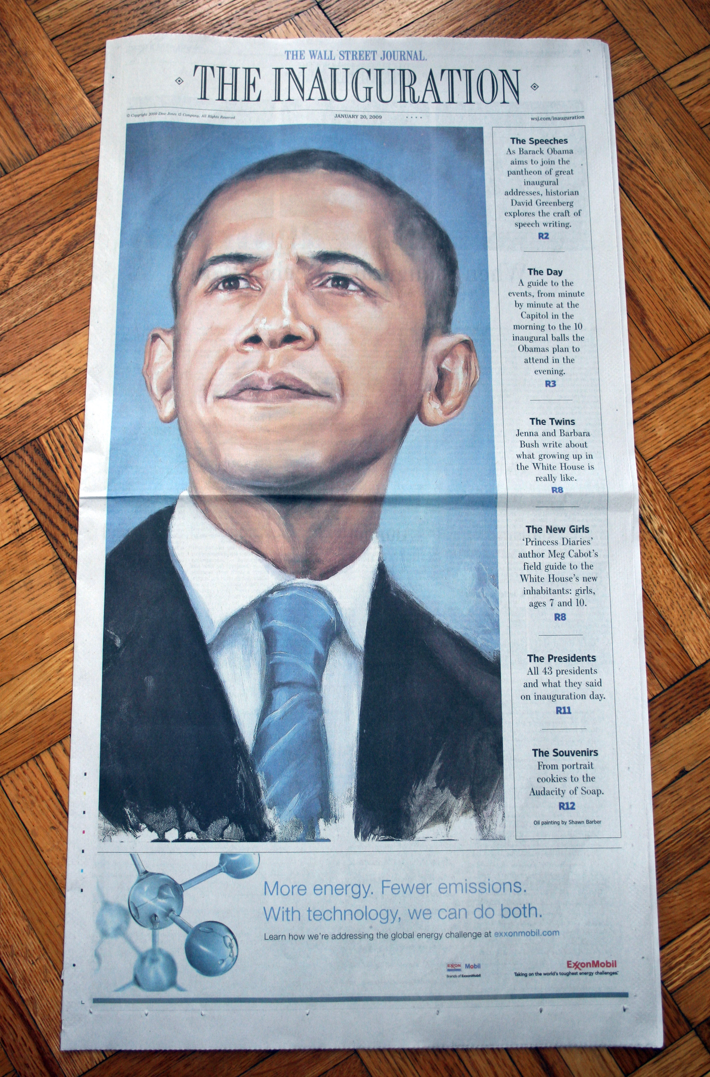 'Portrait of Barack Obama' for Wall Street Journal's Inauguration Issue, 2009