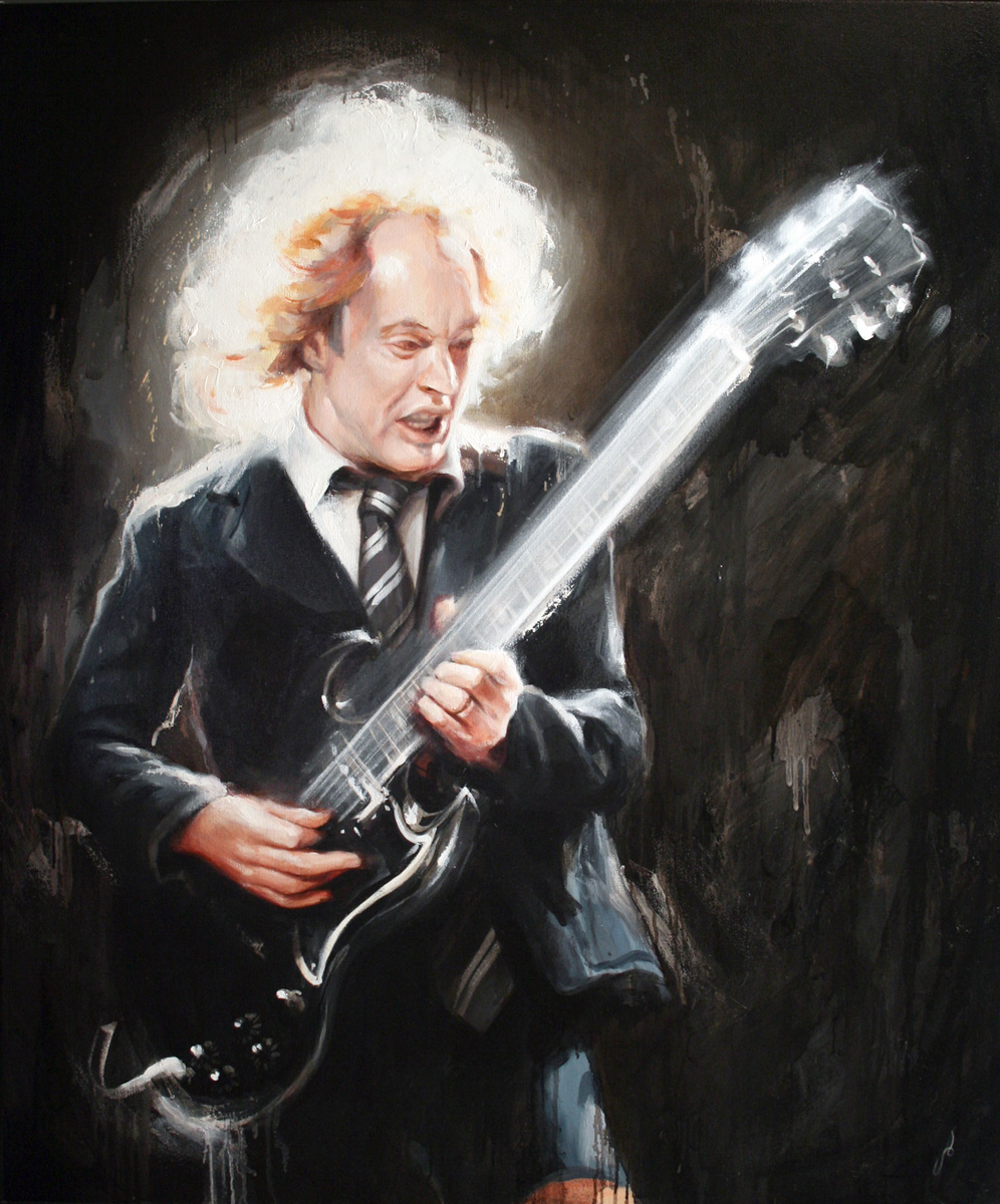 'AC/DC's Angus Young' for The Grammy Awards, 2009