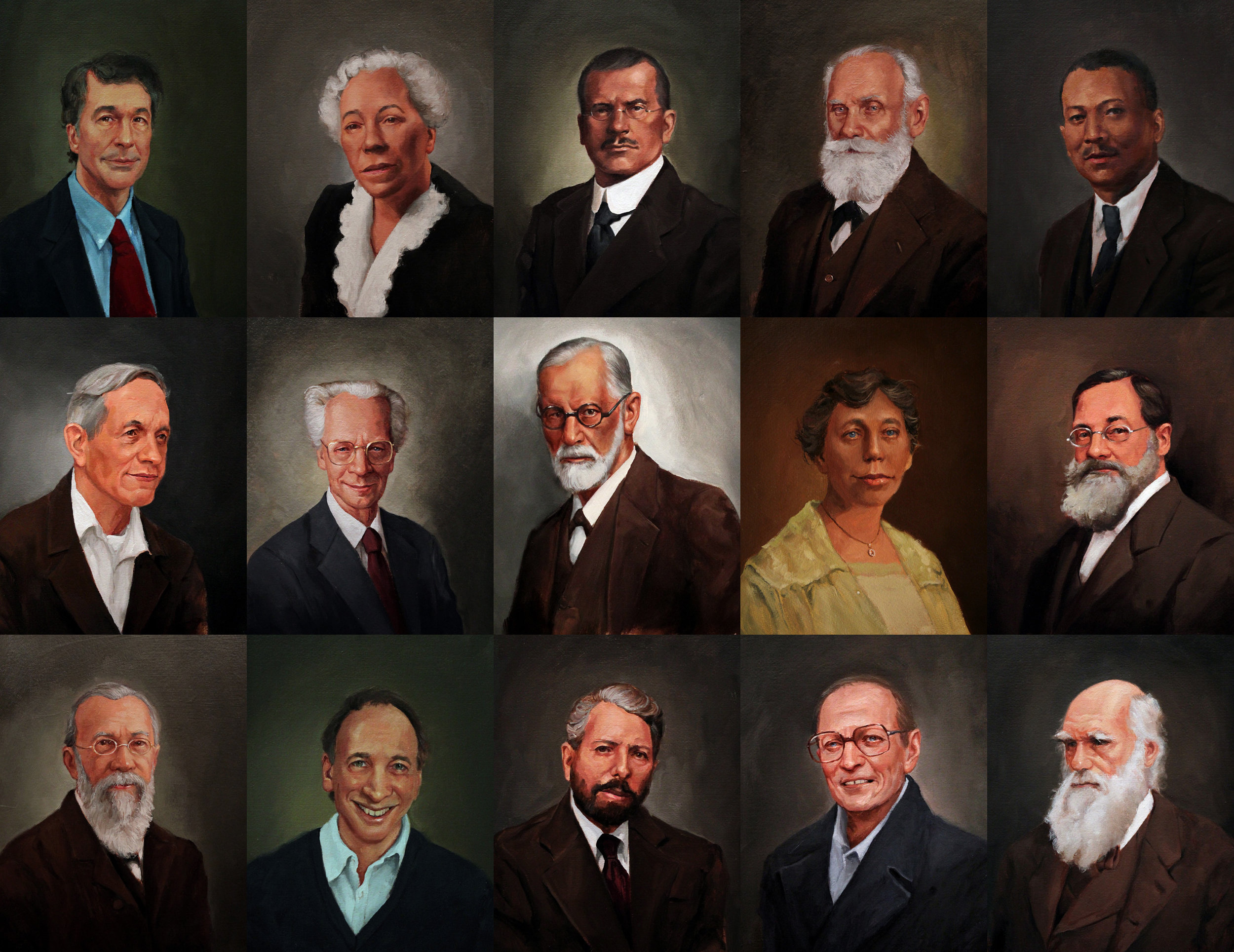 56 Psychologist's Portraits for Psychology College Textbook, W.H. Freeman / Macmillan Publishers, 2013-2016