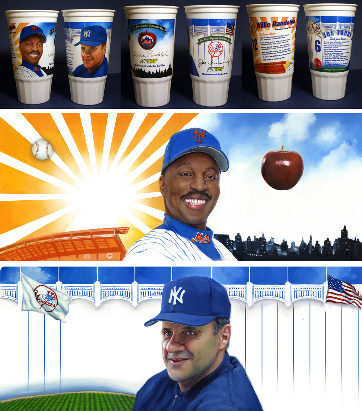 'MLB Coaches Willie Randolph and Joe Torre', for Subway, 2006