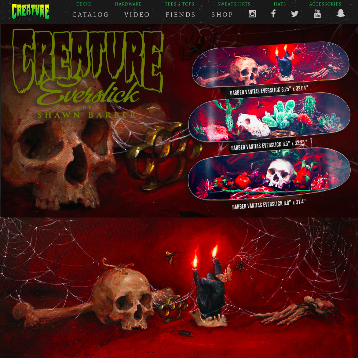 Creature Skateboards, Artist signature series, 2018