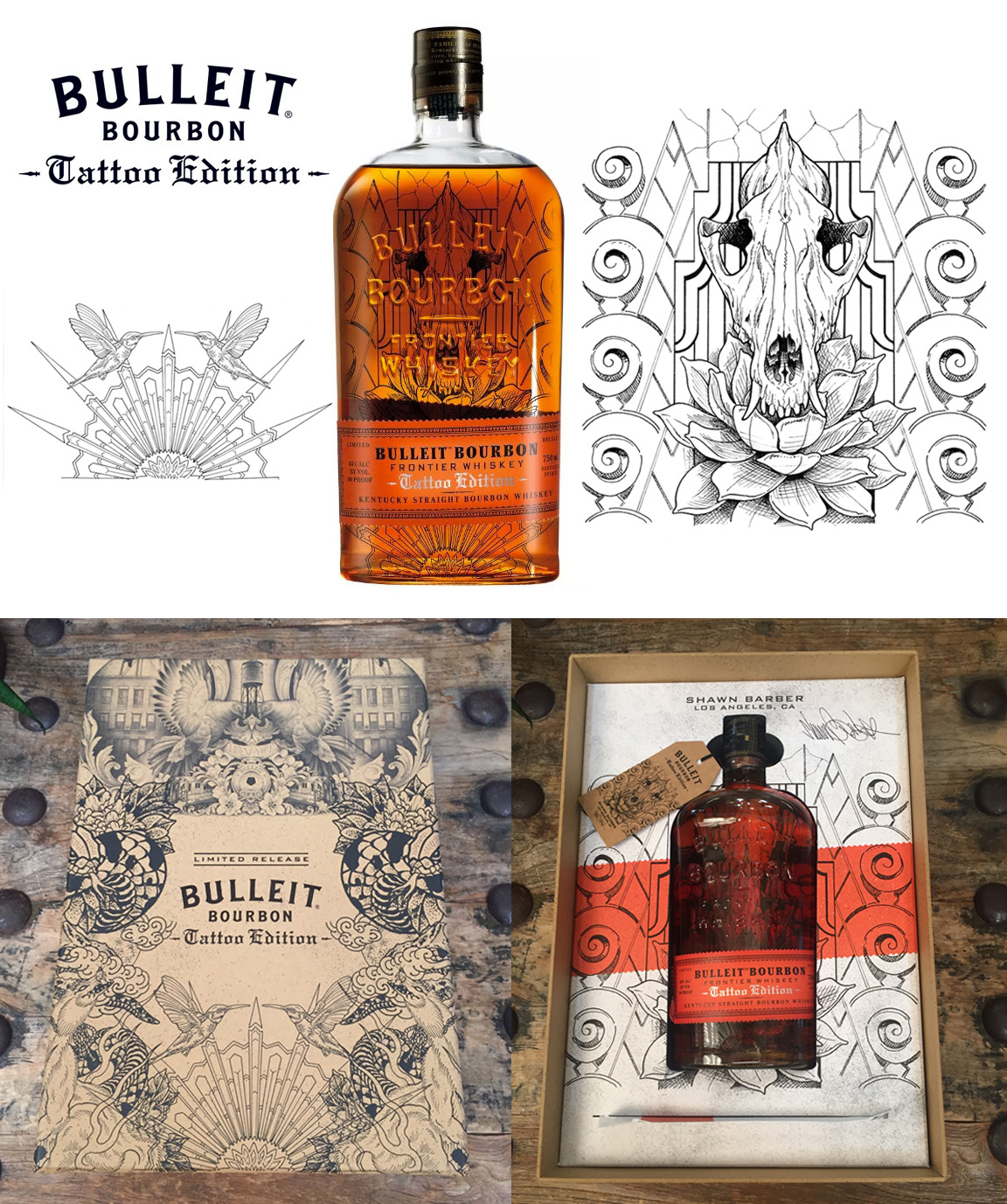 'Tattoo Edition Limited Bottle Artist Series, Los Angeles', for Bulleit Bourbon,  2018