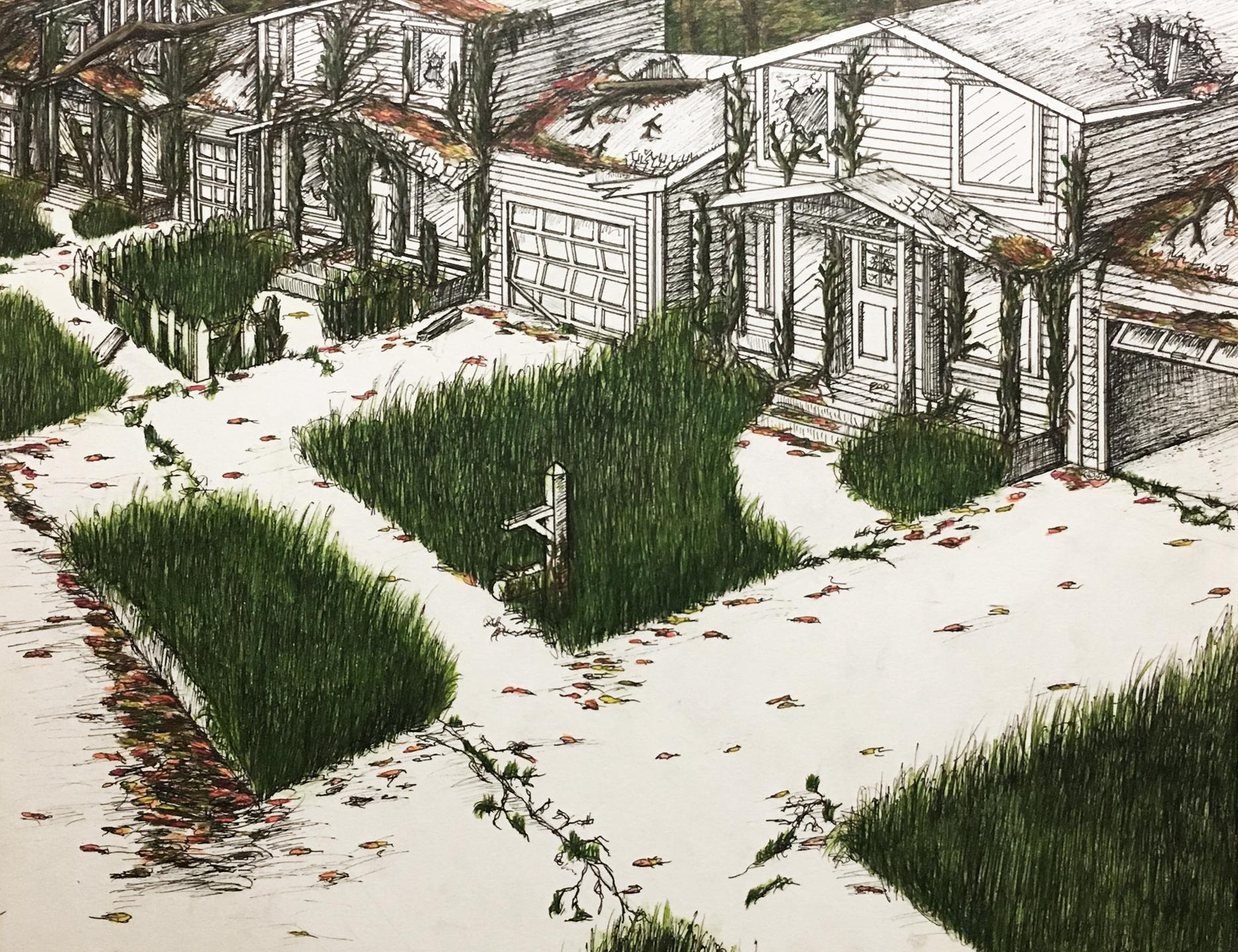 Re-claimer - Ink & Colored Pencil (award a SILVER KEY at Boston Globe Art Show)