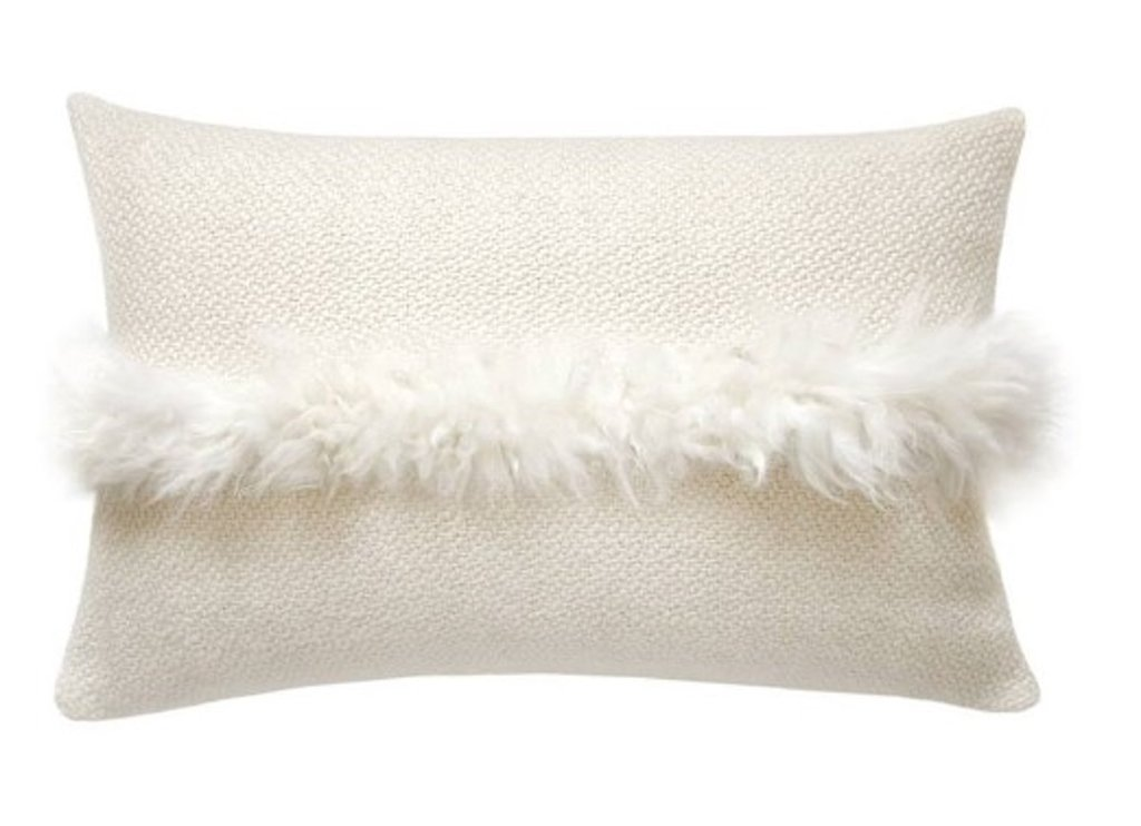 3/HomelosophyCushions, $220+ - This decorative cushion is handwoven with a pop of sheepskin adding an abundance of texture. We love to add in natural fibers where possible and this range from Homelosophy is so beautiful, all made from Argentina's world renowned wool which are then carefully hand spun to ensure the highest quality, softness and comfort.Our favourite is the Sheepskin Striped Pillow made from 100% superfine merino wool yarn and long hair merino lamb sheepskin.
