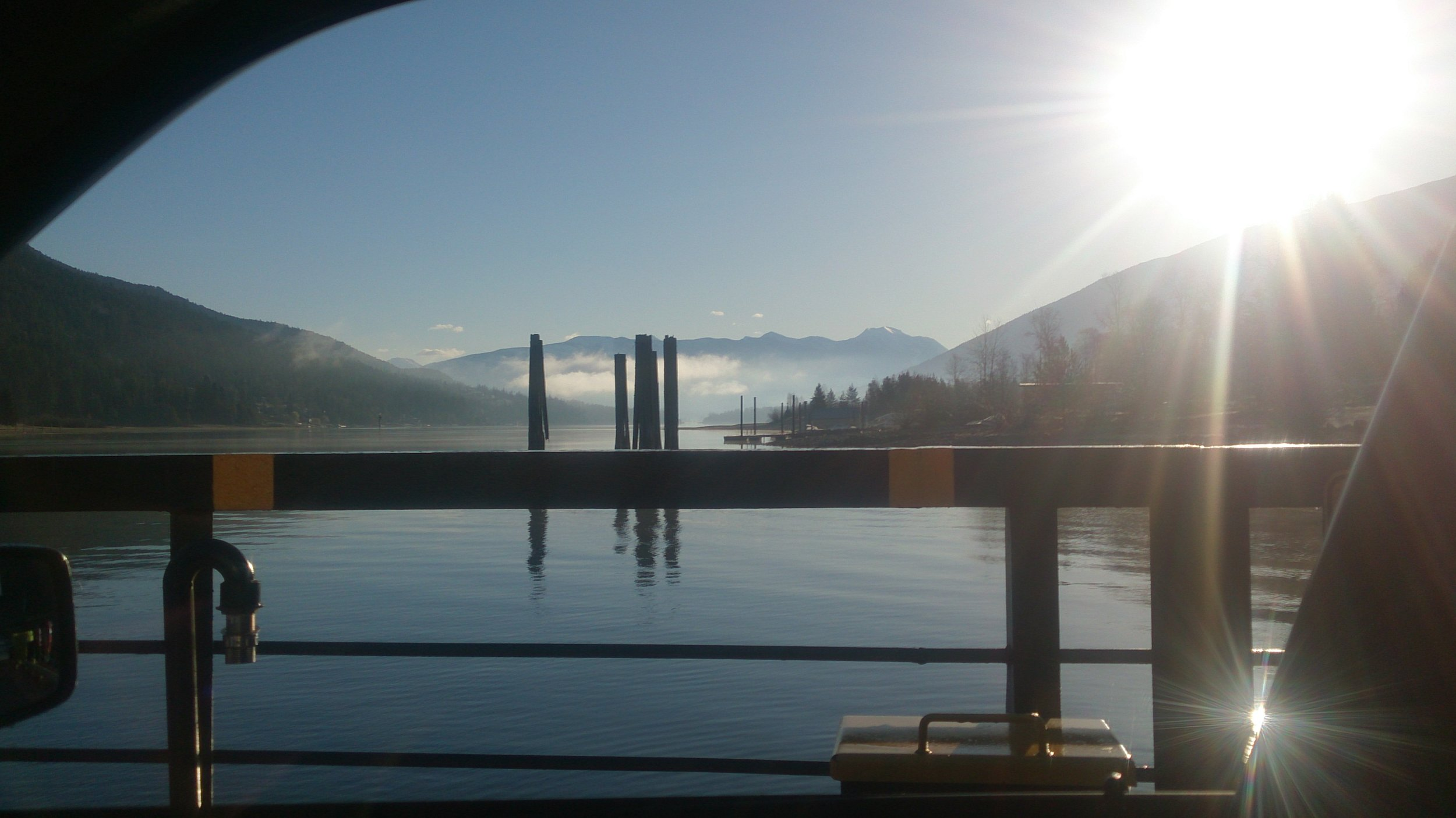Photo taken on the cable ferry crossing at Harrop/Procter, BC