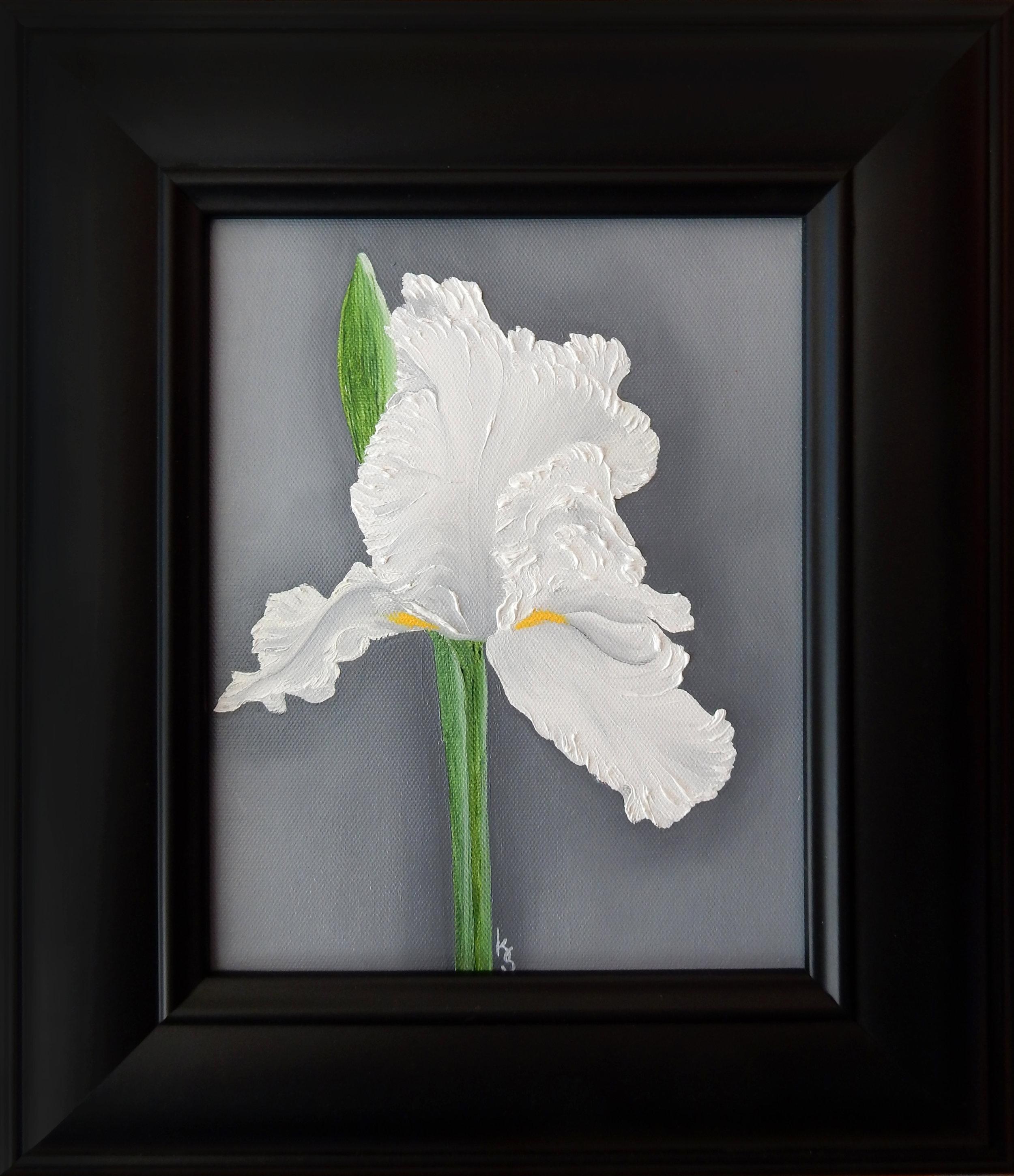 White Iris  2017 Oil on canvas 10 x 8 inches