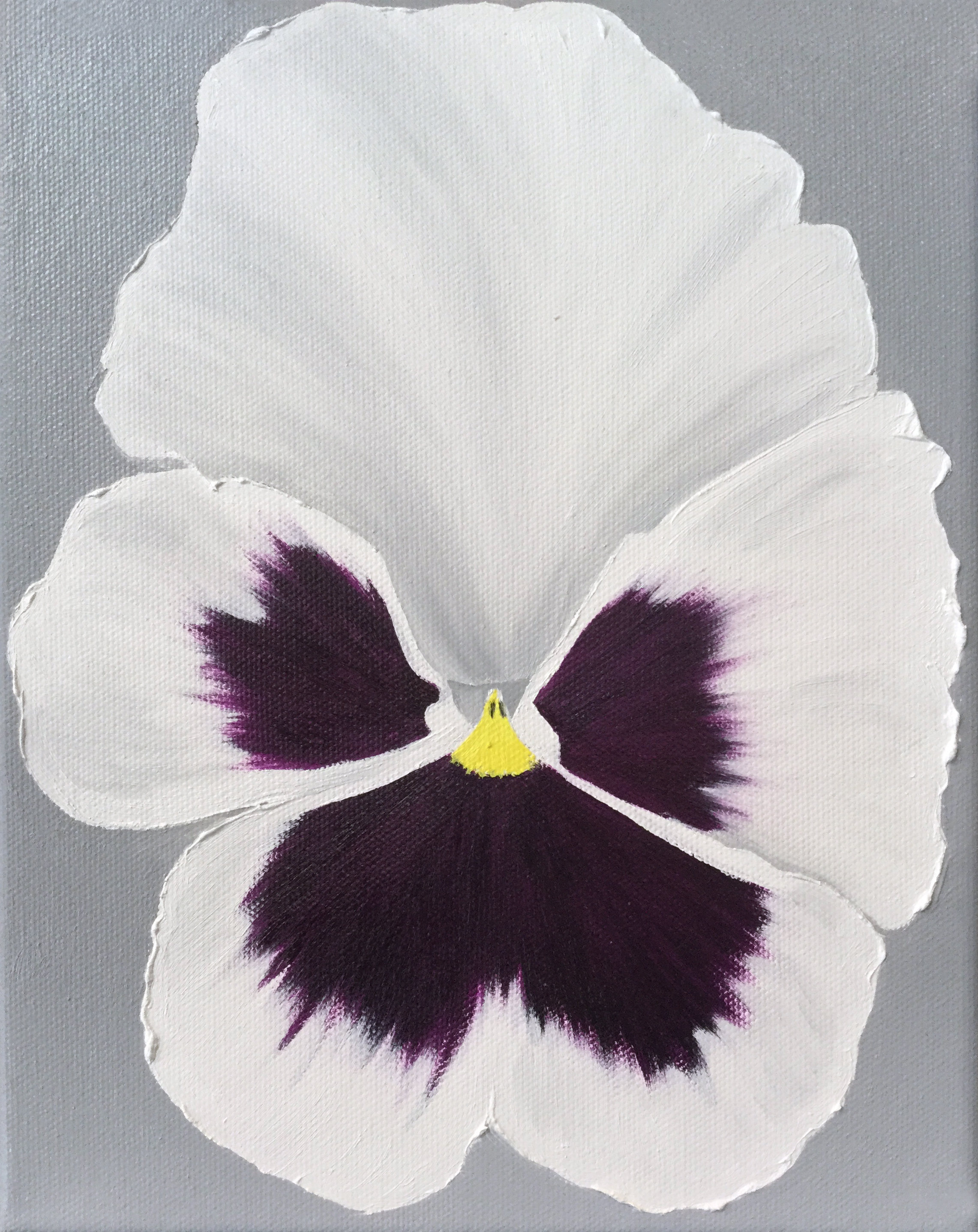 Pansy  2017 Oil on canvas 24 x 18 x 1.5 inches