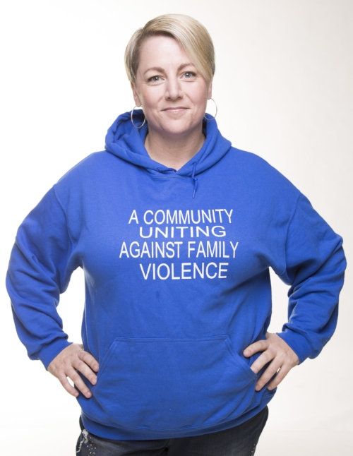 Nelly seen here wearing the  GPAN  (Good People Act Now) jumper. She is proud to have done some work with GPAN - a group of young people in Melbourne's North committed to ending Family Violence through gender equity.