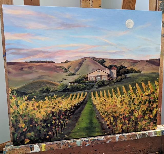 "Got this one packaged up and in the mail today 📦 📬 headed all the way to San Francisco, CA! I almost climbed in the box with it! . 20"" x 24"" 