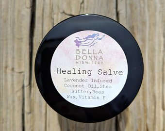 Healing Salve - All Purpose!Our Healing Salve can be used for nearly anything! Rub some on any rough skin, including eczema, or chapped lips, and of course it works wonders for those new Mama breast feeding pains!