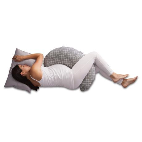 Pregnancy Support Pillows   Gain the comfort and relief that you need with this 'in the middle' pregnancy pillow, it doesn't take up too much room while still doing it's job.