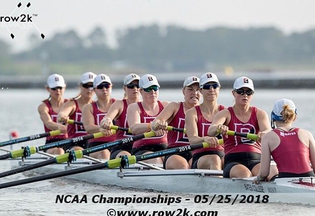 Congrats to alumni Liza Folsom'17 getting gold in the 1V8+🥇 and winning the Dlll NCAA title!❤️🏆 #GOALUMNI #NCAA #D3 #GOLD #PRCALUMNI
