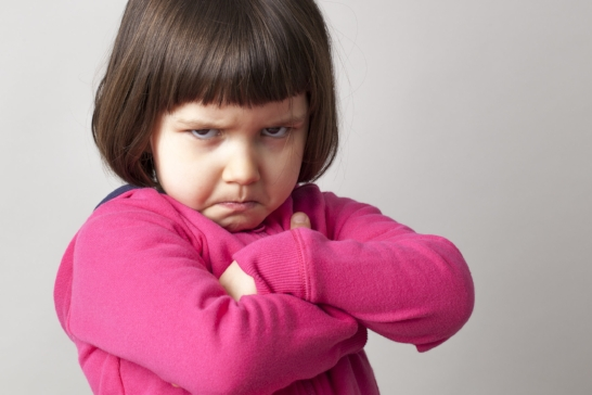 little girl frustrated