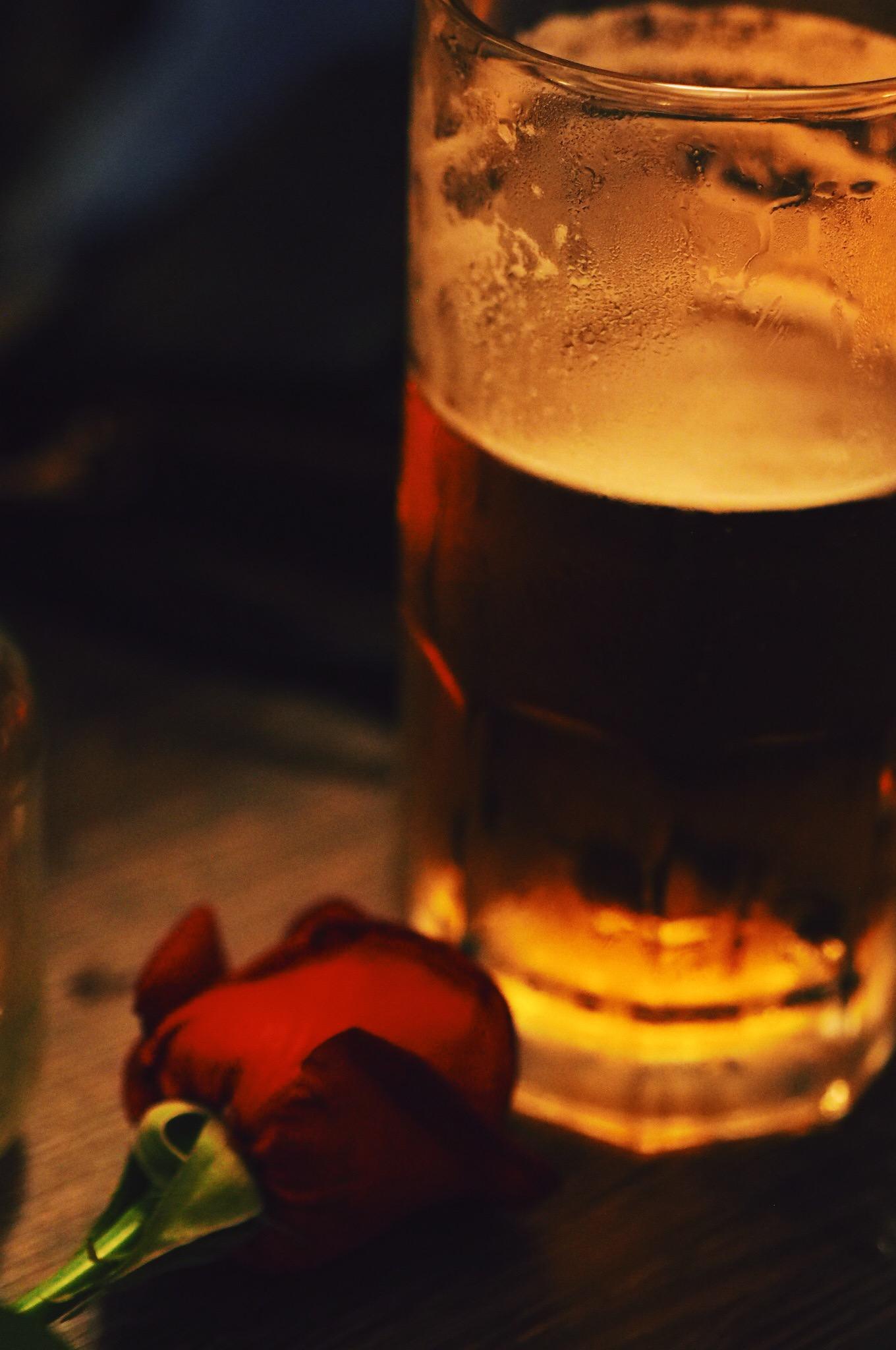 Beer and rose.JPG