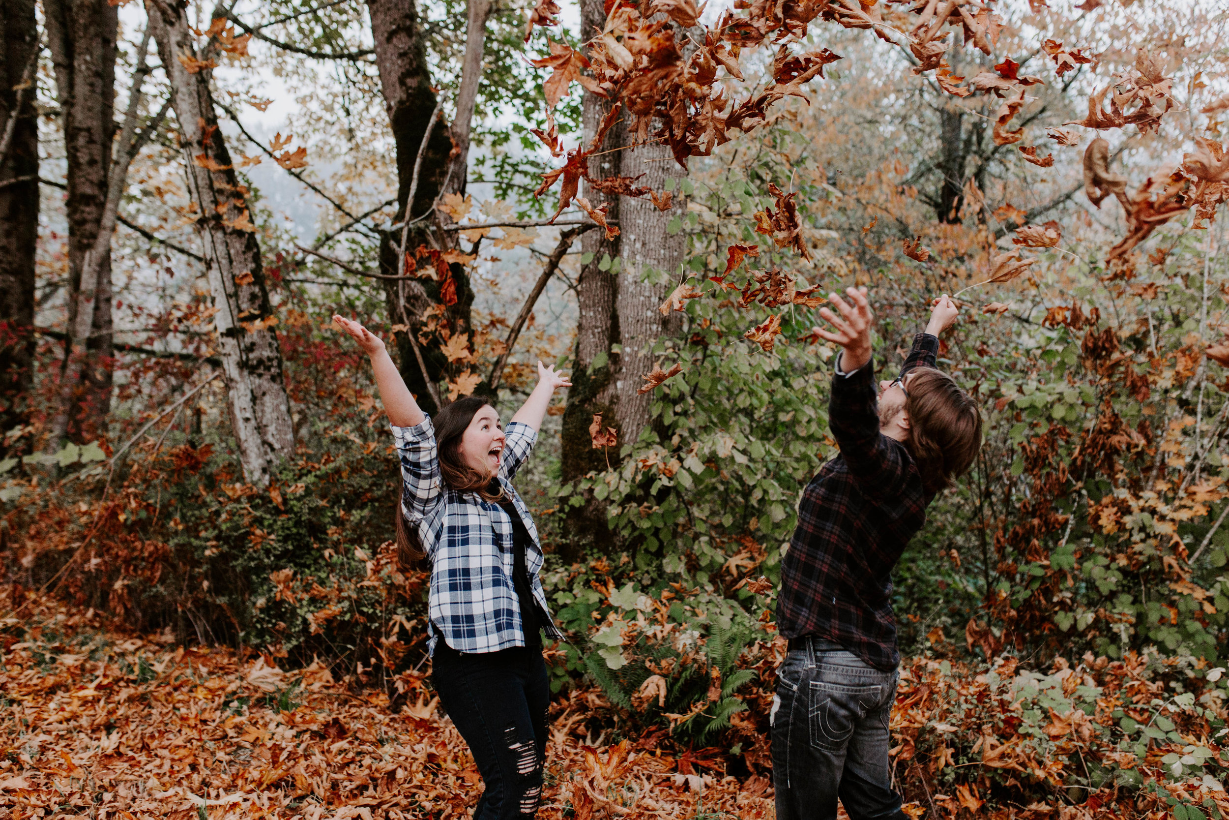 fall engagement shoot seattle