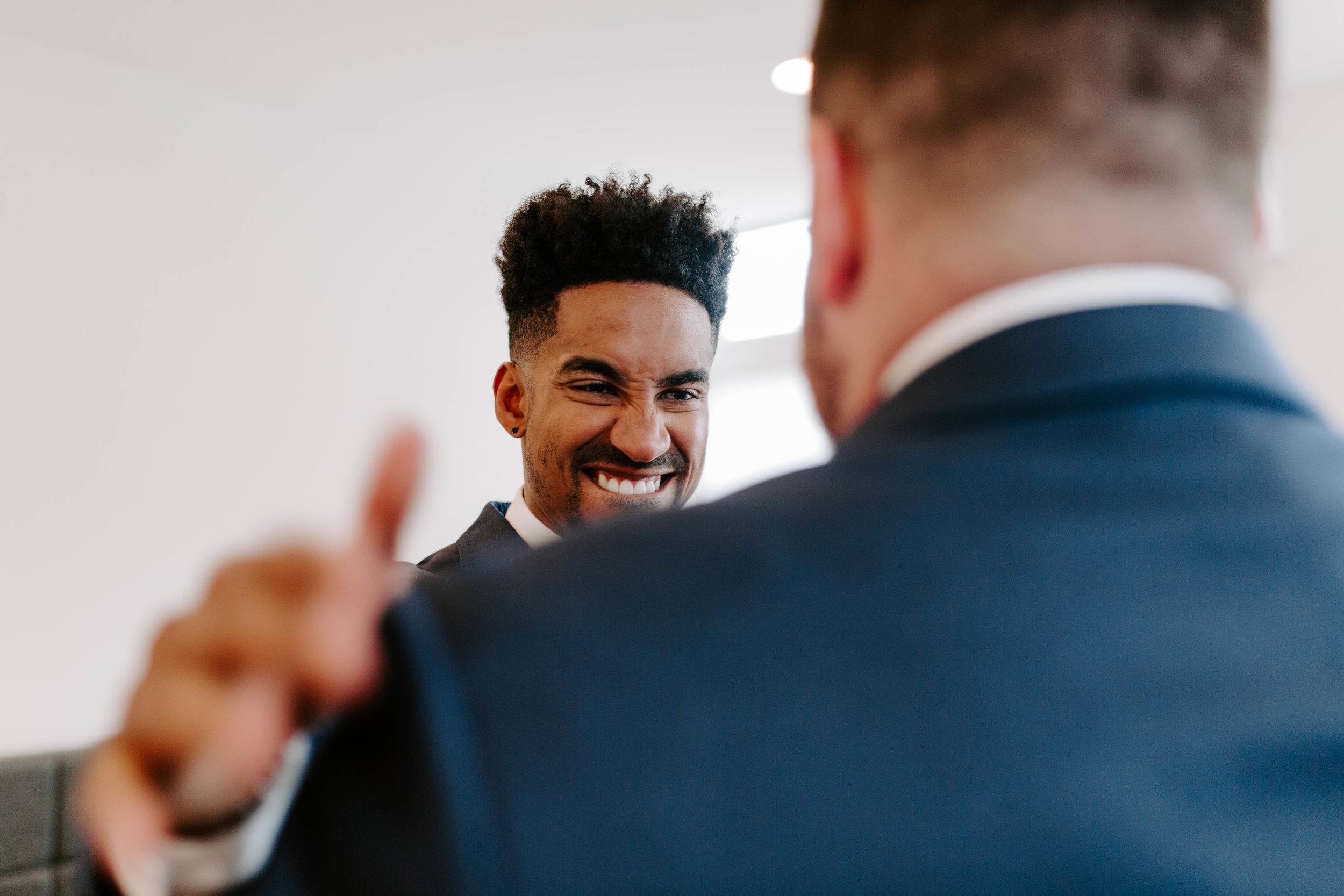 groom getting ready seattle wedding