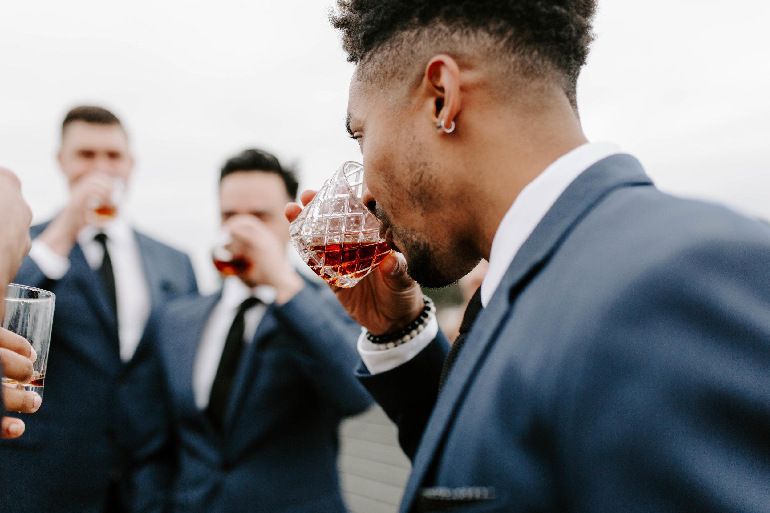groomsmen urban seattle wedding